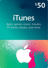 Official Apple iTunes Gift 50 USD