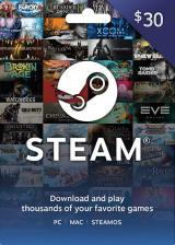 Official Steam Gift Card 30 USD