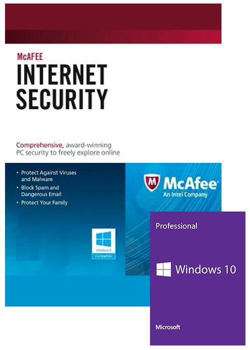 Windows 10 Pro OEM+McAfee Internet Security 1 PC 1 YEAR Global