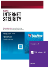 Official McAfee Internet Security 1 PC 1 YEAR Global(Windows 10 PRO OEM free)