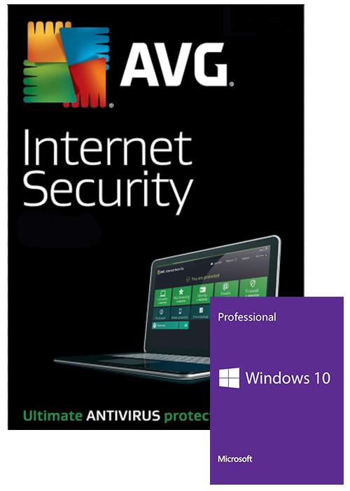 Windows 10 Pro OEM+AVG Internet Security 1 PC 1 YEAR Global