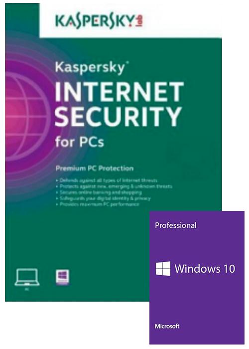 Kaspersky Internet Security 1 PC 6 Months Global Key+Windows 10 PRO OEM