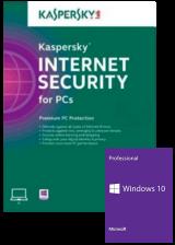 Official Kaspersky Internet Security 1 PC 6 Months Global Key+Windows 10 PRO OEM