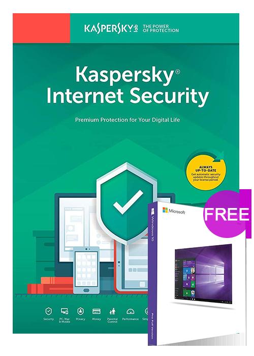 Kaspersky Internet Security 1 PC 6 Months Global Key(Windows 10 Pro OEM free)