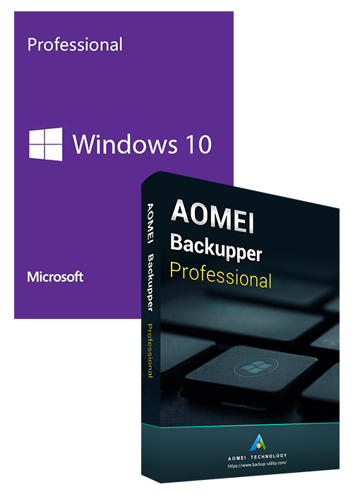 Windows10 PRO OEM+AOMEI Backupper Professional 365 Days 5.7 Edition Key Global