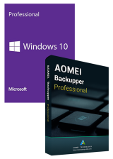 Official Windows10 PRO OEM+AOMEI Backupper Professional 365 Days 5.7 Edition Key Global
