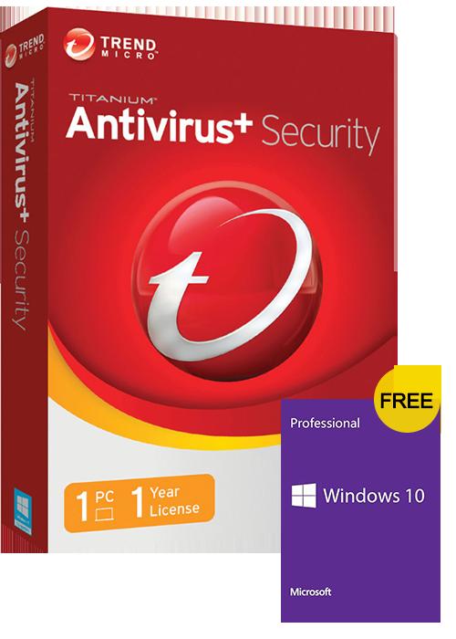 Trend Micro Antivirus 1 PC 1 Year Key Global(windows 10 pro oem free)
