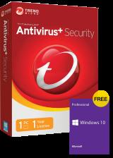 Official Trend Micro Antivirus 1 PC 1 Year Key Global(windows 10 pro oem free)