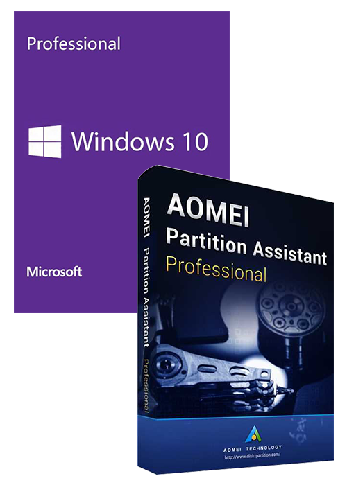 Windows10 PRO OEM+AOMEI Partition Assistant Professional Edition Key Global