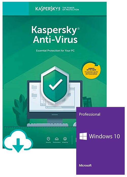 Windows 10 Pro OEM+Kaspersky Antivirus 1 PC 1 Year Key Global