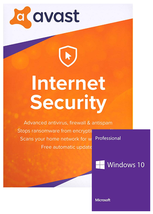Windows 10 Pro OEM+Avast Internet Security 1 PC 1 Year Key Global