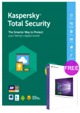 Official Kaspersky Total Security 1 PC 1 Year Key Global(windows 10 pro oem free)