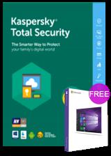 Official Kaspersky Total Security 1 PC 1 Year Key Global(windows 10 pro oem free)