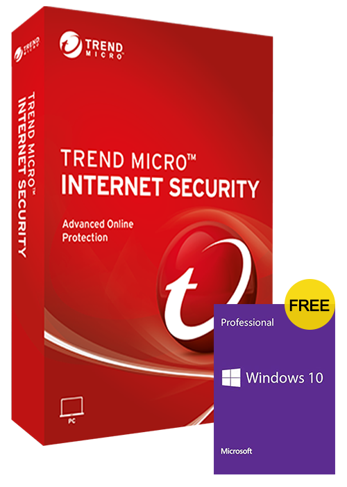 Trend Micro Internet Security 1 PC 1 Year Key Global(windows 10 pro oem free)