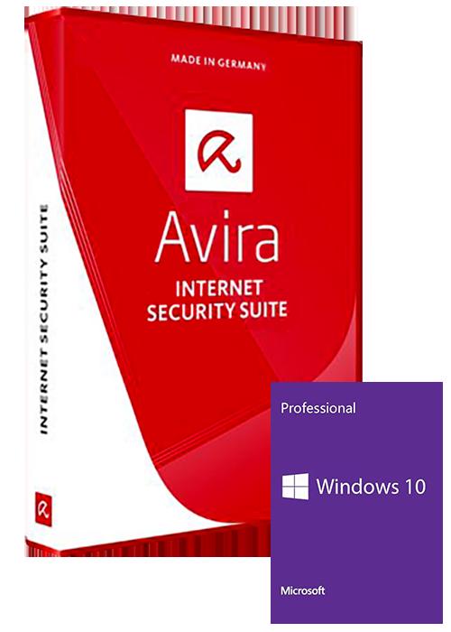 Windows 10 Pro OEM+Avira Internet Security Suite 1 PC 1 YEAR Global