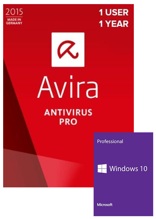 Windows 10 Pro OEM+Avira Antivirus Pro 1 PC 1 YEAR Global
